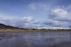 View from the beach to Dingle Peninsula