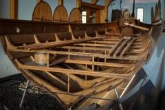 Rumpfnachbau eines Wikingerbootes